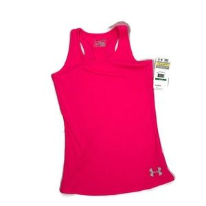 UNDER ARMOUR Youth Pink Heat Gear Tank Top